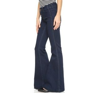 Free People Jolene Dark Wash Flare Stretch Jeans
